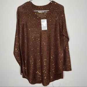 NWT Soft Surroundings Shimmer Sweater size Medium